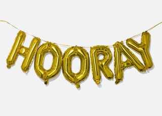 Add On Item: Hooray Balloon Banner