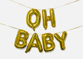 Add On Item: Oh Baby Balloon Banner