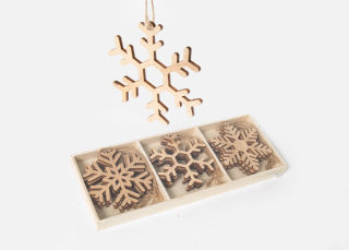 Add On Item: Wooden Snowflake Ornaments