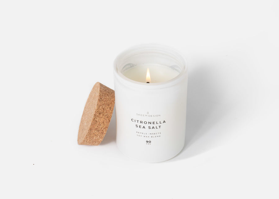 Citronella Sea Salt Candle image number 0