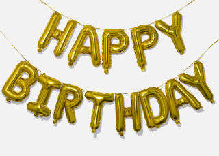 Add On Item: Happy Birthday Balloon Banner