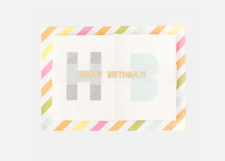 "Add On Item: ""Happy Birthday"" Banner Card"
