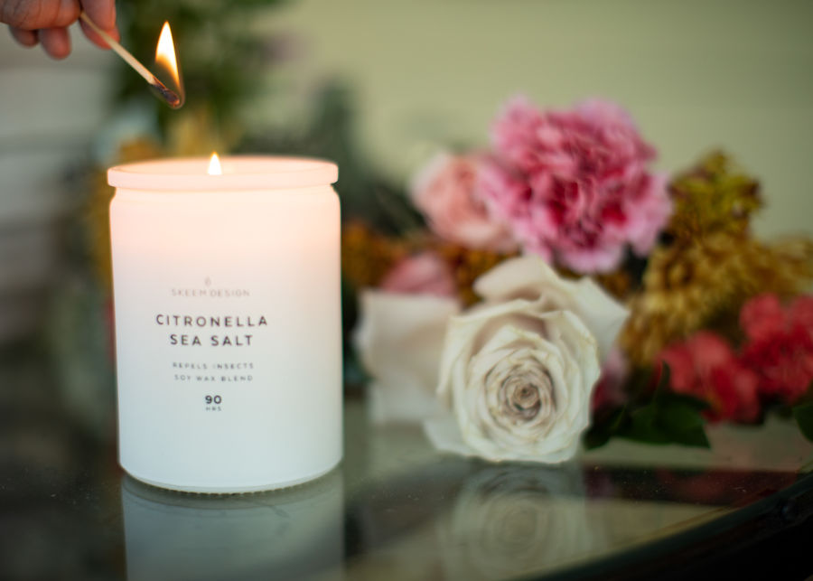 Citronella Sea Salt Candle image number 2