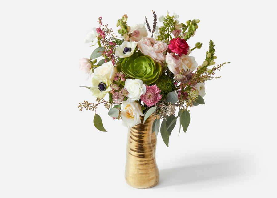 flower bouquet with white roses and anemone  image number 0
